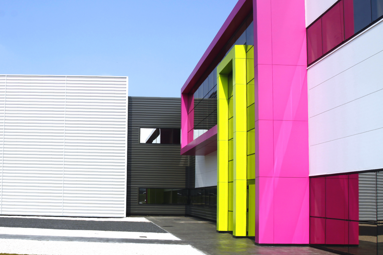 Main entrance of Biocodex industrial facilities in Beauvais (Oise, France.